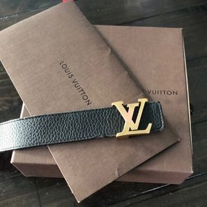 Louis Vuitton Blank / Brown reversible belt